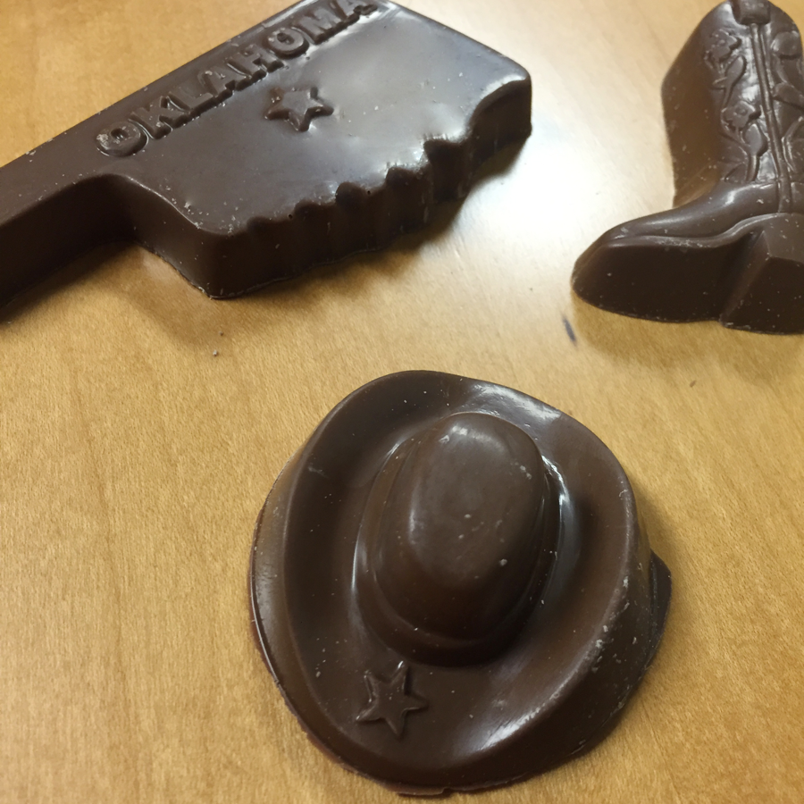Milk Chocolate Oklahoma, Cowboy Boot & Hat