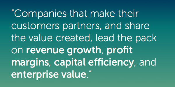 Quote on making customers partners