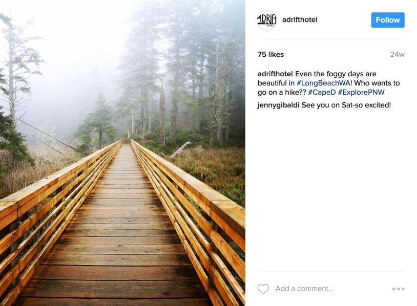 Adrift Hotel uses Instagram to inspire new travelers