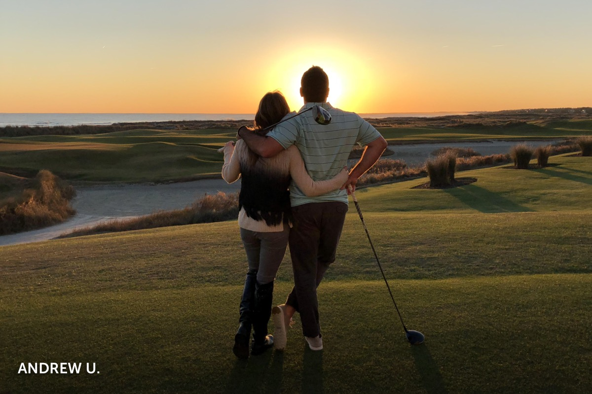 Story from Andrew U., recent guest at the Sanctuary at Kiawah