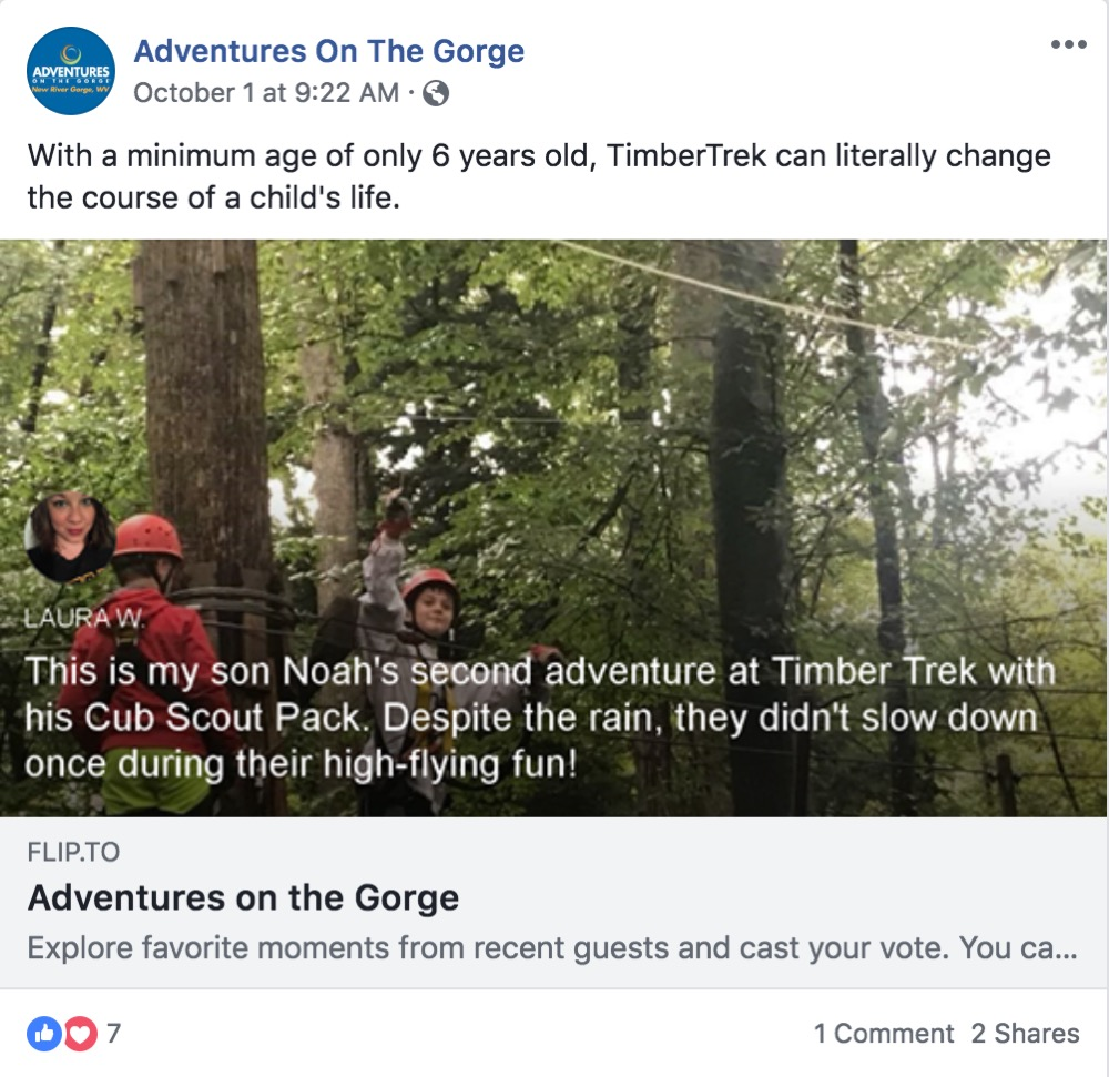 Adventures on the Gorge shares Laura W. story to their page