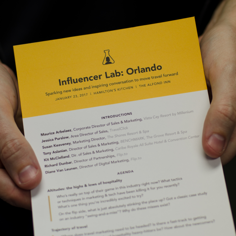 Orlando Influencer Lab agenda