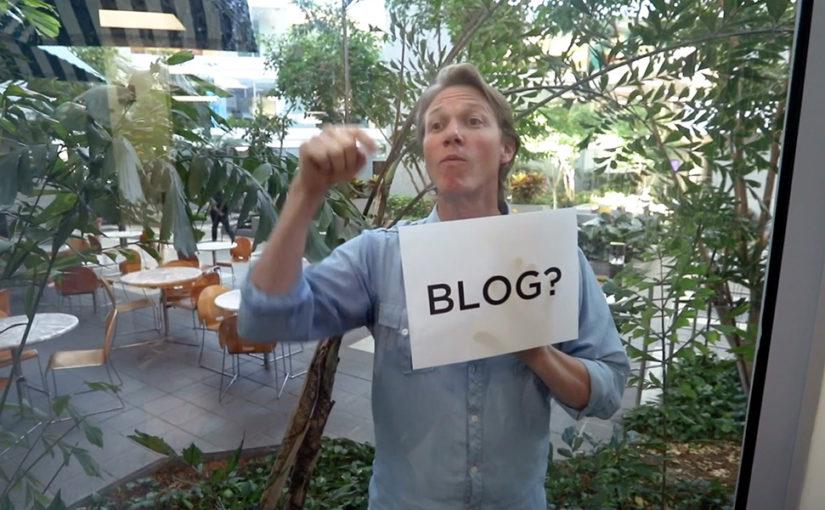 Blog? What Blog?