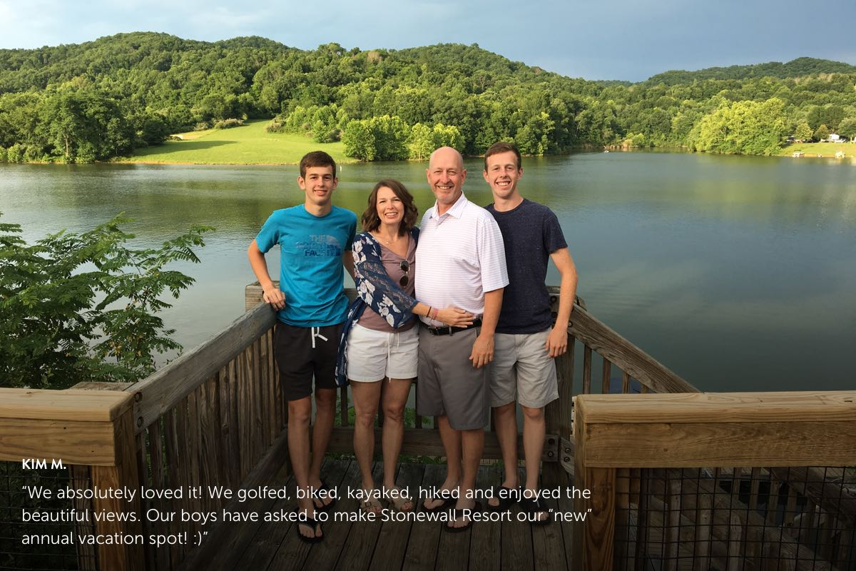 Kim M.'s photo submission to Stonewall Resort's Story Contest